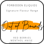Out of Bounds by Forbidden 100ml is a fused mix of Grape, Srawberry, Mint with a slight hint of Aniseed. Filled with Grape, Strawberry, berries and Mint with a hint of Aniseed. This is a flavour which you could vape all day.